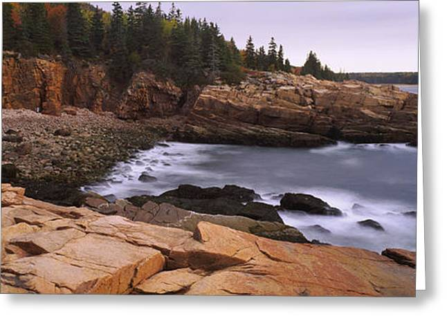 Rock Formations At The Coast, Monument Greeting Card by Panoramic Images