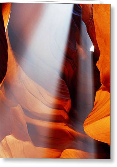 Rock Formations In A Slot Canyon, Upper Greeting Card