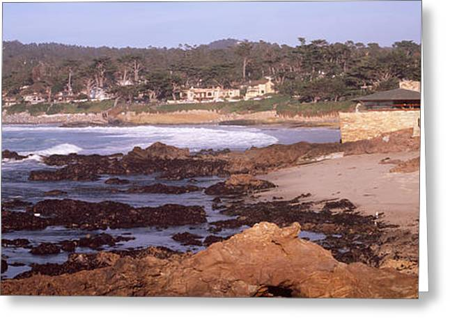 Rock Formations In The Sea, Carmel Greeting Card