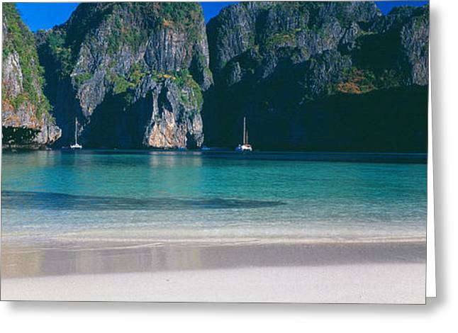 Rock Formations In The Sea, Phi Phi Greeting Card by Panoramic Images