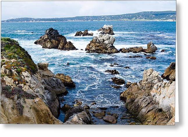 Rock Formations On The Coast, Point Greeting Card