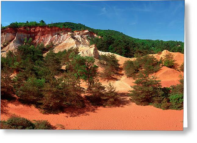 Rock Formations, Rustrel, Vaucluse Greeting Card by Panoramic Images