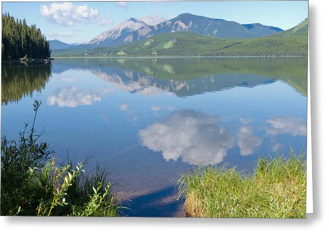 Rock Lake Alberta Canada And Willmore Wilderness Greeting Card