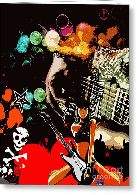 Rock Greeting Card by Mundo Arte