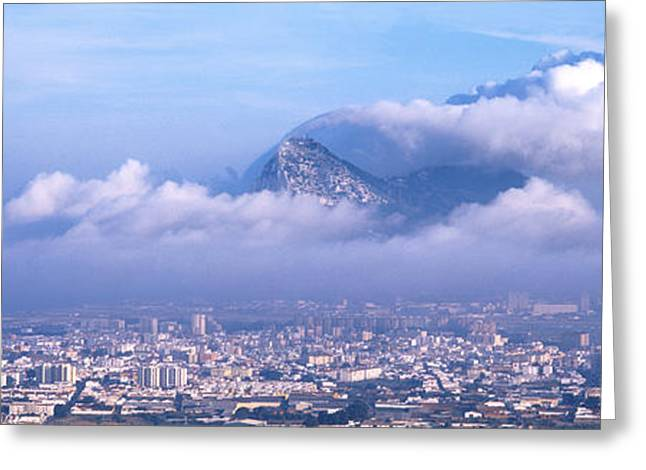 Rock Of Gibraltar, Andalucia, Spain Greeting Card by Panoramic Images