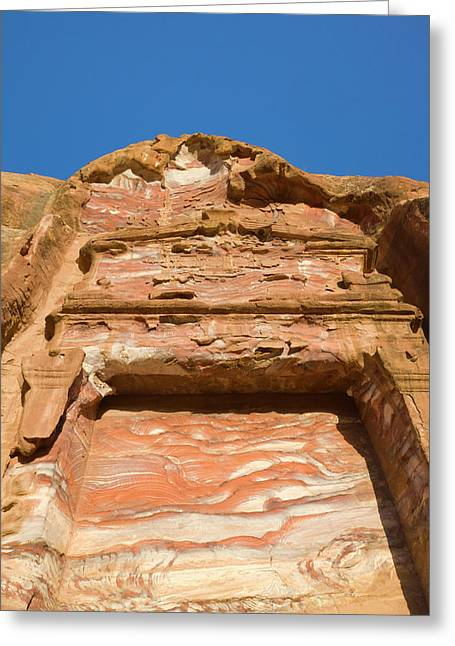 Rock Texture Of Cave Wall, Petra, Jordan Greeting Card by Keren Su