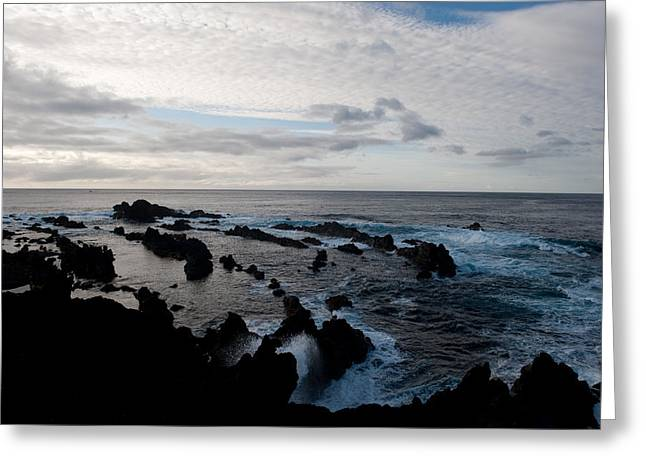 Rocky Beach At Dusk  Greeting Card