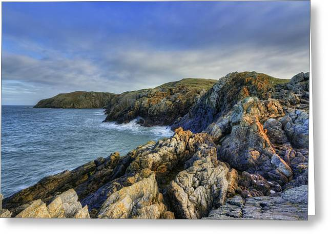 Rocky Ocean Greeting Card by Ian Mitchell