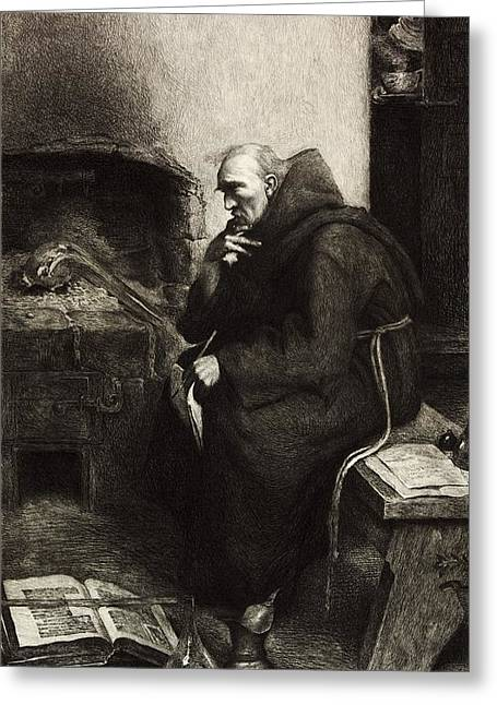 Roger Bacon, English Natural Philosopher Greeting Card by Science Photo Library