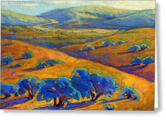 Greeting Card featuring the painting Rolling Hills 1 by Konnie Kim