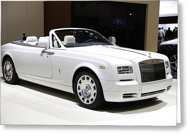 Rolls-royce Showcased At The New York Auto Show Greeting Card