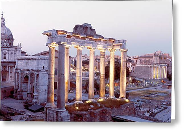 Roman Forum, Rome, Italy Greeting Card by Panoramic Images