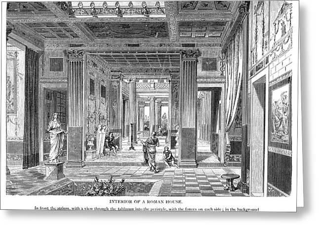 Roman Villa Greeting Card by Granger