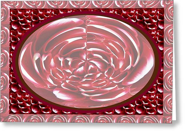 Romantic Decor Using Heart Shaped Flower Petals For Transformation  With Photo Shop Utilities Greeting Card