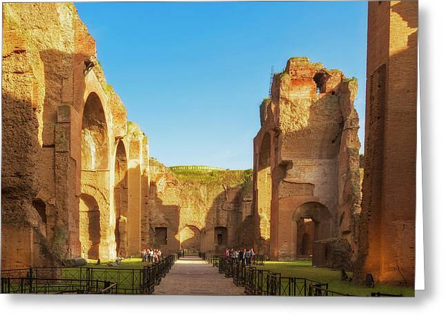Rome, Italy. Baths Of Caracalla Greeting Card