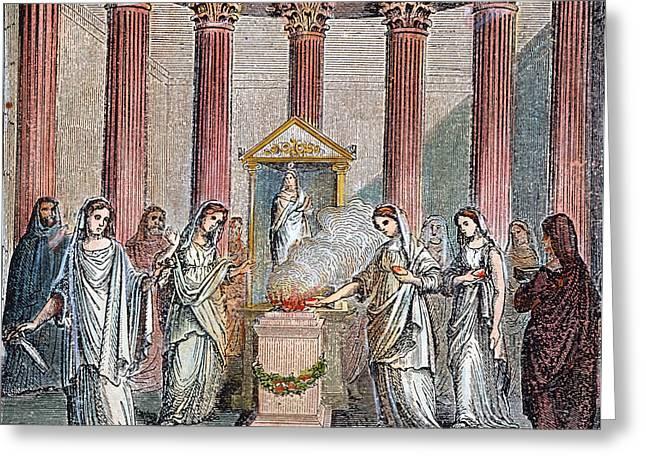 Rome Vestal Virgins Greeting Card by Granger
