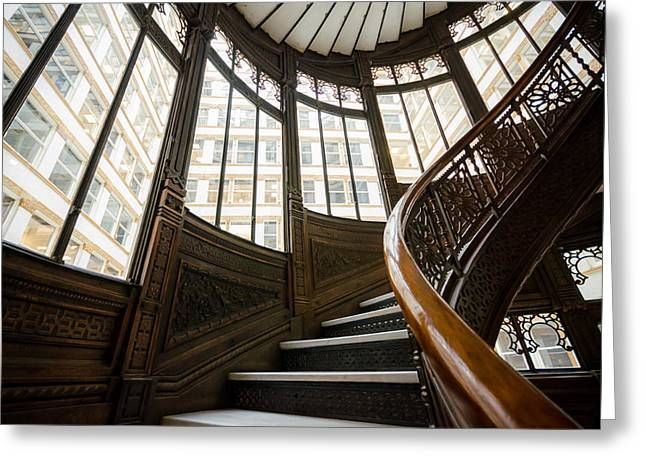 Rookery Building Up The Oriel Staircase Greeting Card