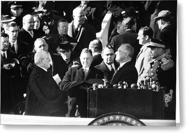Roosevelt Inauguration Greeting Card