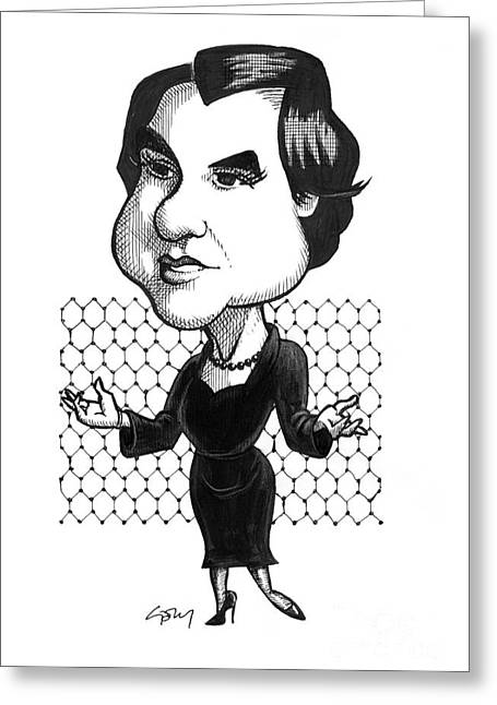 Rosalind Franklin, British Chemist Greeting Card by Gary Brown