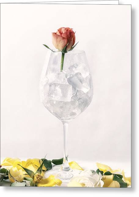 Rose On The Rocks Greeting Card