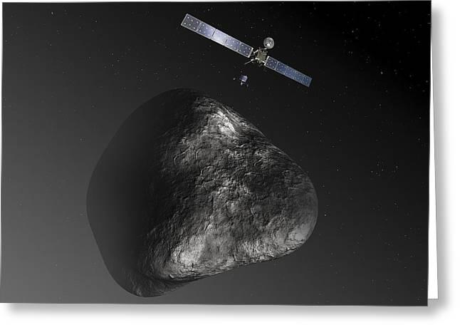 Rosetta Spacecraft Greeting Card by Esa,c. Carreau,atg Medialab