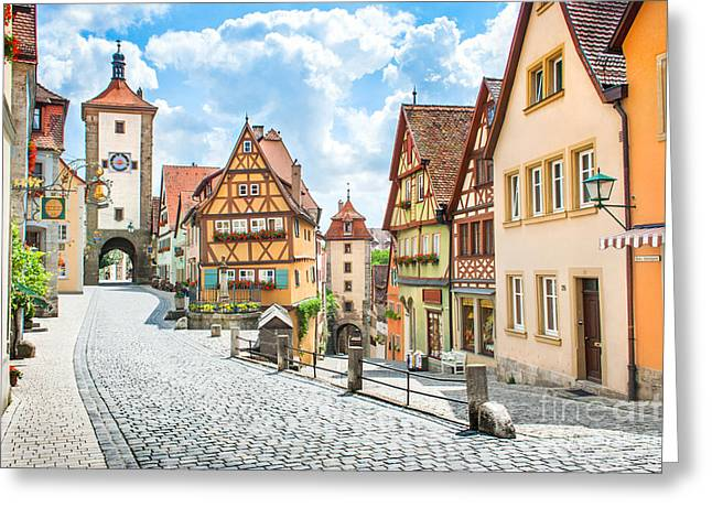 Rothenburg Ob Der Tauber Greeting Card by JR Photography