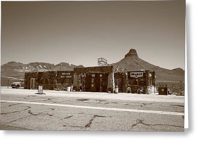 Route 66 - Cool Springs Camp Greeting Card by Frank Romeo
