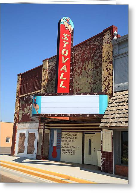 Route 66 - Stovall Theater Greeting Card by Frank Romeo