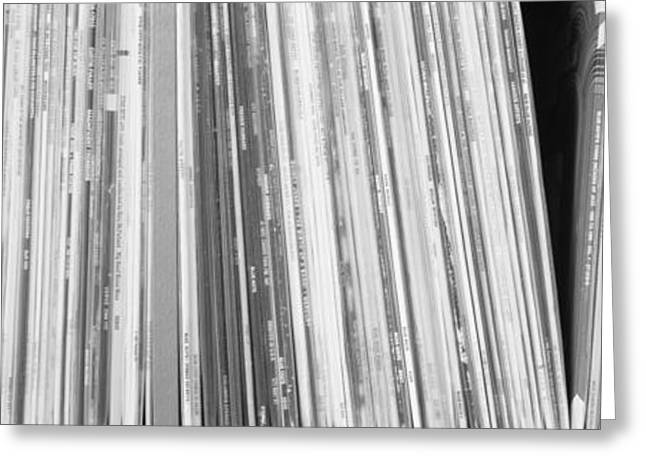 Row Of Music Records, Germany Greeting Card by Panoramic Images