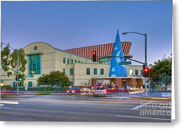 Roy E. Disney Animation Building In Burbank Ca. Greeting Card by David Zanzinger