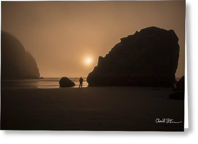 Ruby Beach Sunset Greeting Card