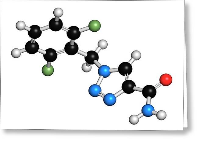 Rufinamide Seizures Drug Molecule Greeting Card by Molekuul