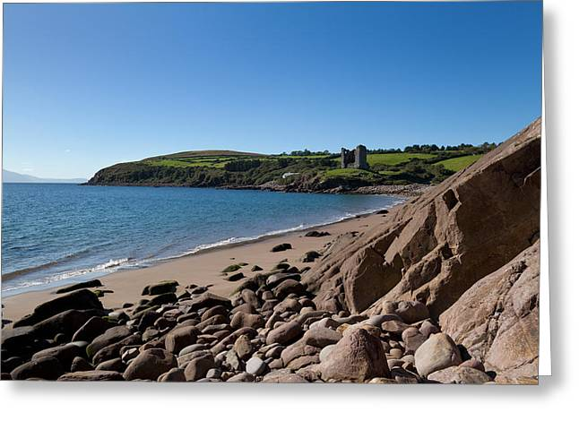 Ruined 16th Century Minard Castle Greeting Card by Panoramic Images