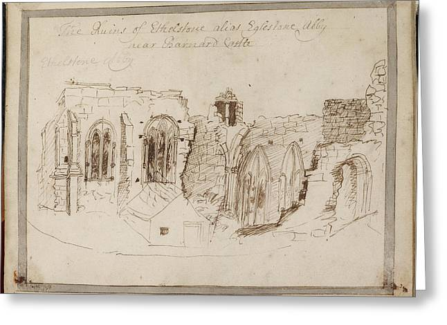 Ruined Yorkshire Country House Greeting Card by British Library