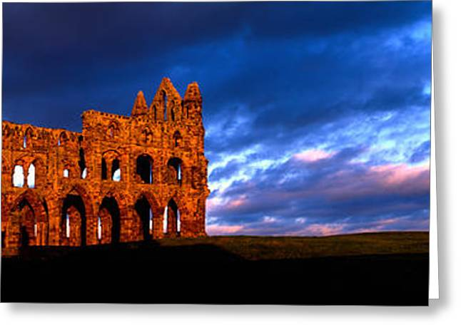 Ruins Of A Church, Whitby Abbey Greeting Card by Panoramic Images