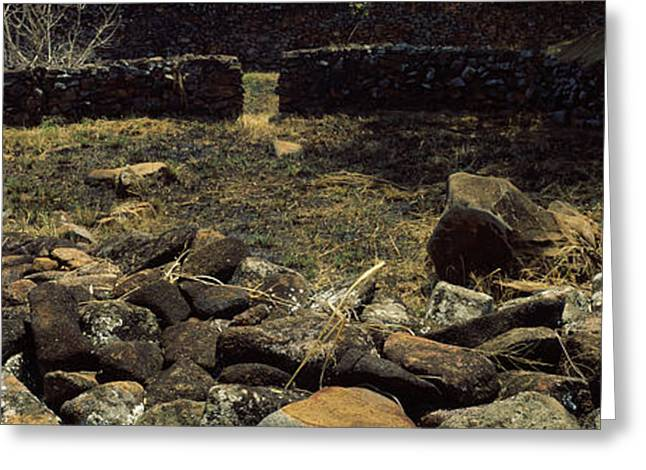 Ruins Of A Stone Wall, Thimlich Ohinga Greeting Card by Panoramic Images