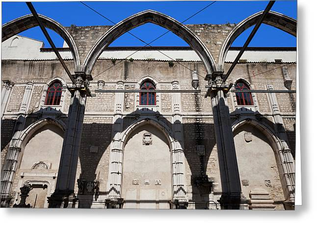 Ruins Of Carmo Convent In Lisbon Greeting Card by Artur Bogacki