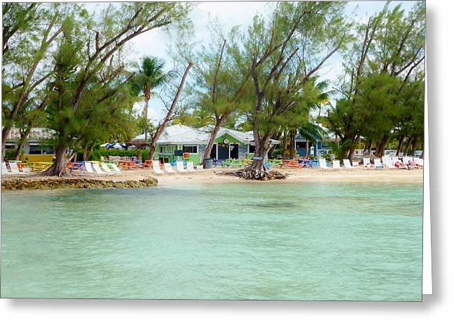 Rum Point Greeting Card by Amar Sheow