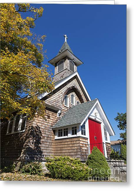 Rural Church Greeting Card by John Greim