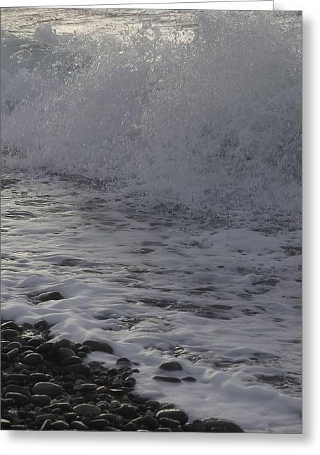 Rushing November Waves Greeting Card