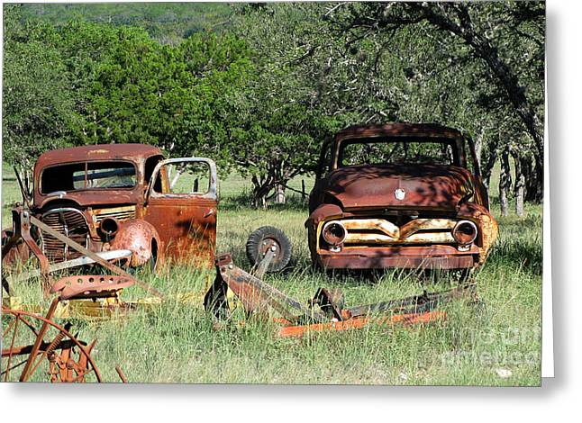 Rust In Peace No. 3 Greeting Card