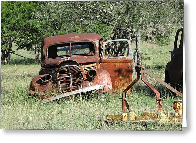 Rust In Peace No. 5 Greeting Card