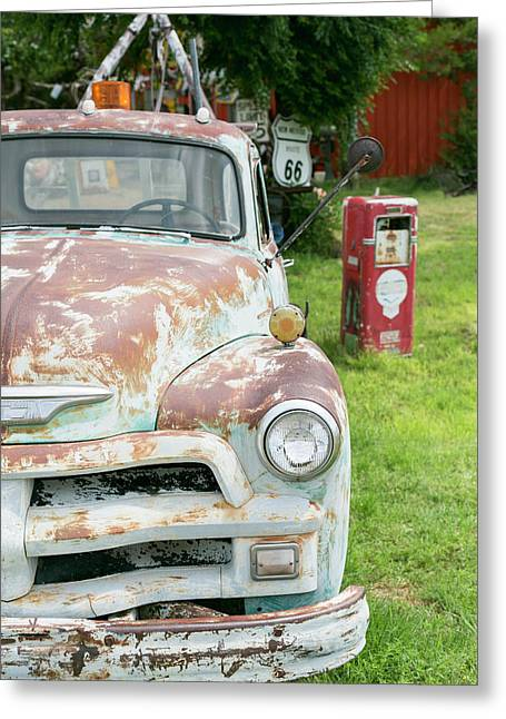 Rusted Antique Automobile, Tucumcari Greeting Card by Julien Mcroberts