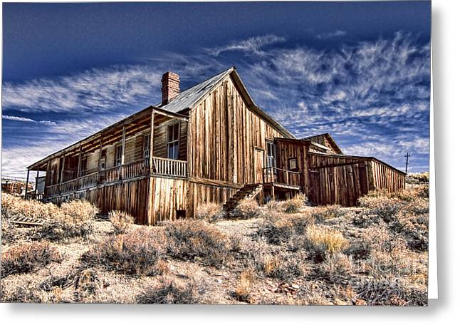 Rustic Cabin Greeting Card by Jason Abando