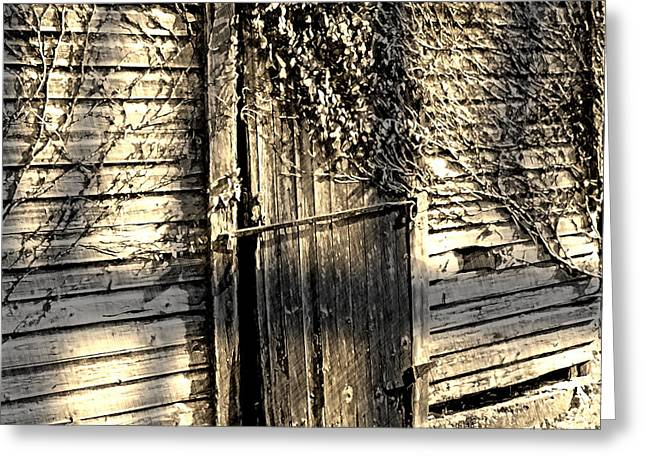 Rustic Door Greeting Card by The Art of Marsha Charlebois