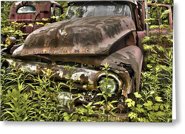 Rusty And Crusty Truck Greeting Card
