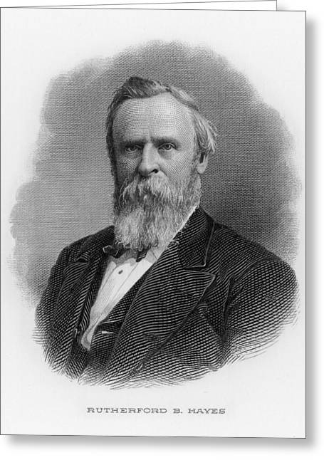 Rutherford Birchard Hayes  19th Greeting Card by Mary Evans Picture Library