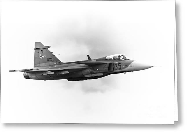 Saab Jas-39 Gripen Greeting Card