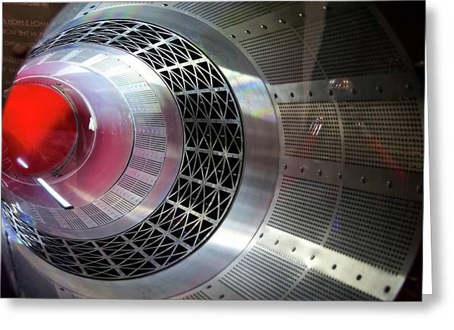 Sabre Rocket Engine Heat Exchanger Greeting Card by Mark Williamson