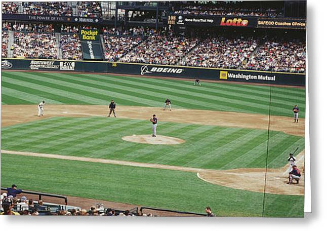 Safeco Field Seattle Wa Greeting Card by Panoramic Images